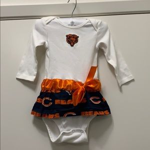 Etsy Chicago Bears onesie with skirt and belt